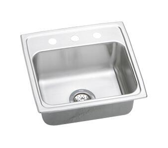 """Elkay LRAD1919550 20"""" Top Mount Self-Rim Single Bowl 18-Gauge ADA Compliant Stainless Steel Sink"""