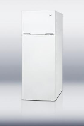 Summit CP97R Freestanding Counter Depth Top Freezer Refrigerator with 7.4 cu. ft. Total Capacity 3 Wire Shelves