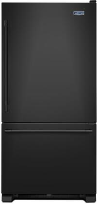 "Maytag MBF1958FE 30"" Bottom Mount Freezer Refrigerator with 18.67 cu. ft. Total Capacity, 2 Half Width Shelves, Humidity-Controlled FreshLock Crispers, Deli Drawer, Freezer Baskets, and LED Light"
