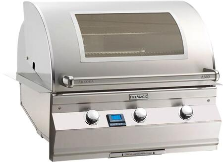 """FireMagic A660I5L1XW Aurora 36.5"""" Built-In Grill with E-Burners, One Infrared Burner, Digital Thermometer, and Magic View Window"""