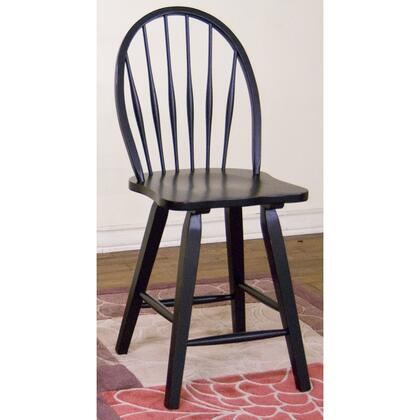 """Sunny Designs 1818XX Bowback Stool 43"""" with Wooden Seat, Hoopback and Stretchers in"""