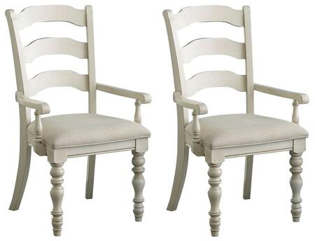 Hillsdale Furniture 5265804 Pine Island Series Traditional Fabric Wood Frame Dining Room Chair