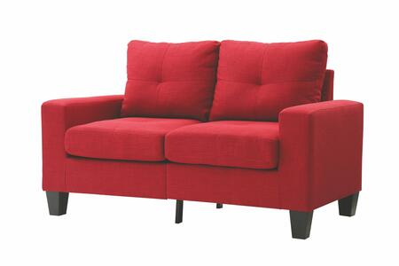 Glory Furniture G474AL Newbury Series Fabric Stationary Loveseat