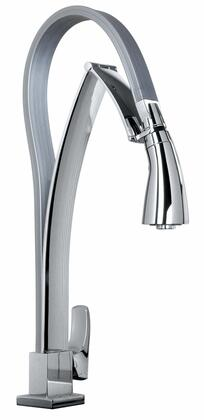 Jewel Faucets 25757XX Single Hole Kitchen Faucet with Dual Function Pull-Out Spout