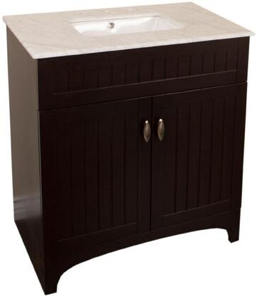 "Bellaterra Home 7615SWX 32"" Single Sink Vanity in Sable Walnut"