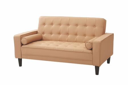 Glory Furniture G841L G800 Series Bycast Leather Convertible Loveseat