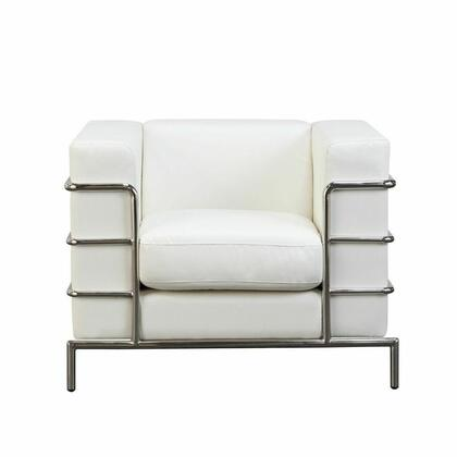 Diamond Sofa CITADELCHWH Fabric Armchair with Wood Frame in White