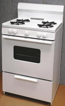 "Premier SFK290OP 30"" Gas Freestanding Range with Open Burner Cooktop, 3.9 cu. ft. Primary Oven Capacity, Broiler in White"