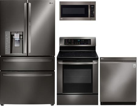 LG 719851 Black Stainless Steel Kitchen Appliance Packages