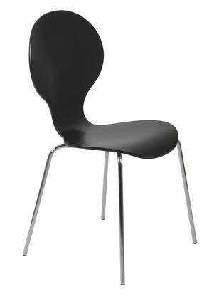 Euro Style 02941 Bunny Series  Metal Frame Dining Room Chair