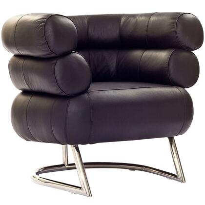 Modway EEI627BLK Michelin Series Leather Lounge with Metal Frame in Black