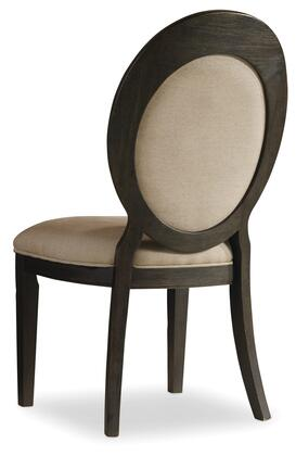 Corsica Dark Oval Back Side Chair Image 1