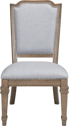 Donny Osmond Home 180202 Florence Series Traditional Fabric Wood Frame Dining Room Chair