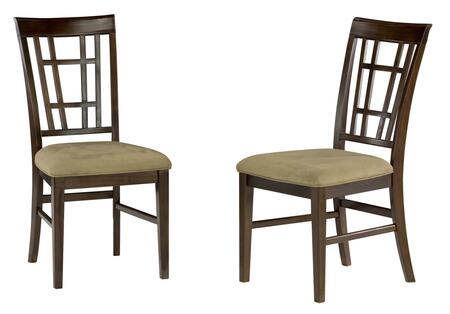 Atlantic Furniture MONTEGOBAYCCDC Montego Bay Collection Set of 2 Dining Chairs with Cappuccino Seat Cushions: