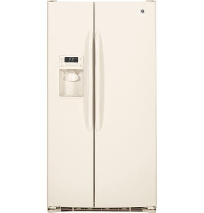 GE GSHF6HG 25.9 cu. ft. Capacity Side-by-Side Refrigerator, External Ice/Water Dispenser, Freshness Center with 2-Stack Drawer System, Adjustable Door Bins, Energy Star: