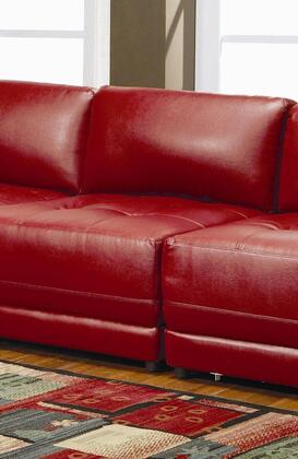 Coaster 500897 Leather Sectional with Wood Frame in Red