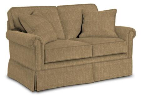 """Broyhill Audrey 3762-1/COLOR 61"""" Wide Loveseat with Two Pillows, Skirt Bottom and DuraCoil Seat Cushions in"""