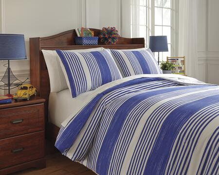Milo Italia Shaunda Collection C23311TMT 2 PC Twin Size Duvet Cover Set includes 1 Duvet Cover and 1 Standard Sham with Striped Design, 200 Thread Count and Cotton Material in Color