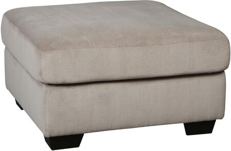 """Signature Design by Ashley Dailey 9540X08 33"""" Contemporary Fabric Oversized Accent Ottoman with Plush Cushion, Tri-Block Feet and Textured Upholstery in"""
