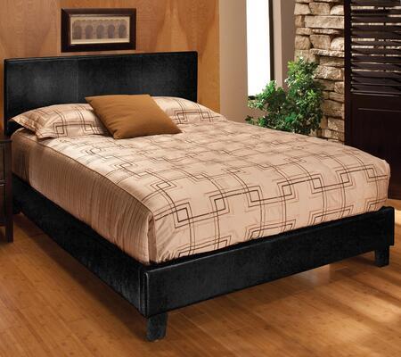Hillsdale Furniture 16BQ Harbortown Queen Size Platform Bed Set with Rails Included, Sleek Design, Flex Deck Support and Vinyl Upholstery in