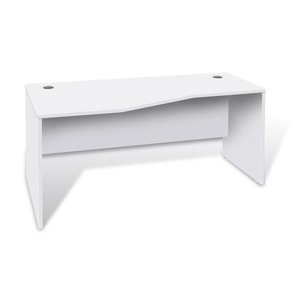 Unique Furniture 1633224LWH Modern Standard Office Desk
