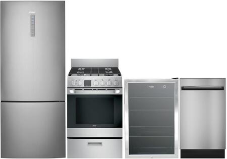 Haier 892686 5 piece Stainless Steel Kitchen Appliances Package