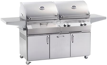 "FireMagic A830S5EAX61CB 80.75"" Aurora Built-In Combo Grill with E-Burners, Charcoal Ignitor, and Analog Thermometer"