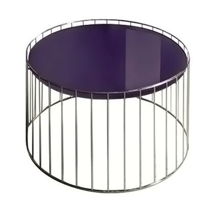 VIG Furniture VGDVT47APUR Modern Round End Table