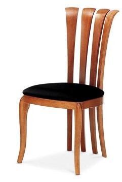 Domitalia SIRIO9SKS7W02 Sirio Series Modern Fabric Wood Frame Dining Room Chair
