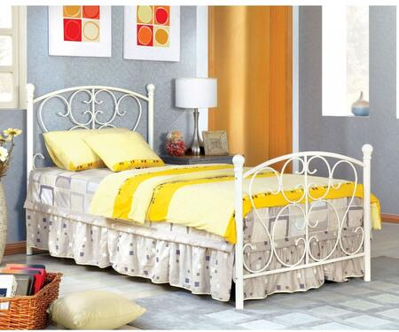 Furniture of America CM7706WH Alice Series  Twin Size Bed