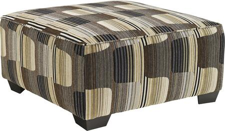 Benchcraft 195XX08 Westen Accents Series Contemporary Fabric Wood Frame Ottoman