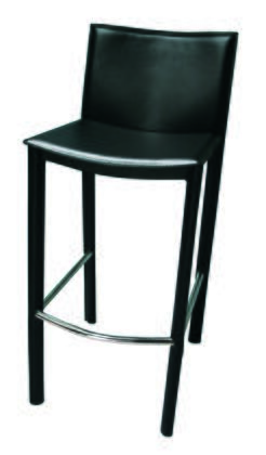 Tag 4902AB Elston Bar stool With Leather Wrapped and Hand Sewn Legs, Hand Sewn Supple Leather Seats and Back, No Assembly Required, Horizontal Stabilizers & In