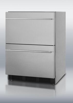 Summit SCFF55IM2DAL  Freezer with 2.0 Drawers Capacity in Stainless Steel
