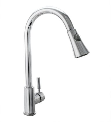 Cosmo COSKF501 Pull Down Single Kitchen Faucet with Pull Down Sprayer, Stainless Steel Braided Hose, Ceramic Disc Valve and Brass Construction, in