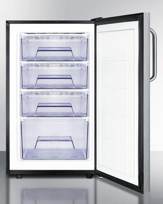 "AccuCold FS408BLXCSSx 20"" Upright Freezer with 2.8 cu. ft. Capacity, Pull-Out Drawers, Adjustable Thermostat and Professional Handle, in Stainless Steel"