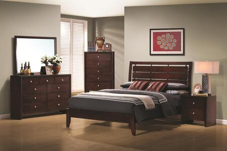 Coaster Serenity 4 Piece Full Size Bedroom Set