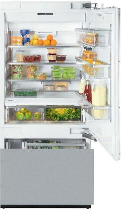 Miele KF1XVi Energy Star Fully Integrated Bottom Freezer Refrigerator with X cu. ft. Capacity, FullView Storage Drawers, Spill Proof Shelves, Filtered Ice Maker amd SmartFresh Drawers: Panel Ready with