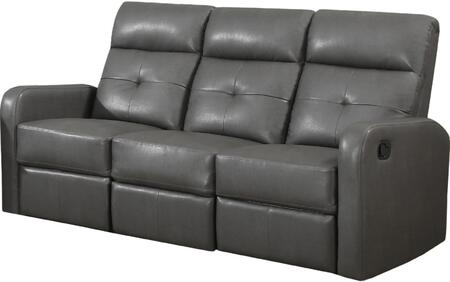 "Monarch I 85XXX 72"" Reclining Sofa with Lumbar Support, Comfortably Padded and Bonded Leather"