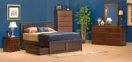 Atlantic Furniture BROOKLYNRPFKINGAW Brooklyn Series  King Size Bed
