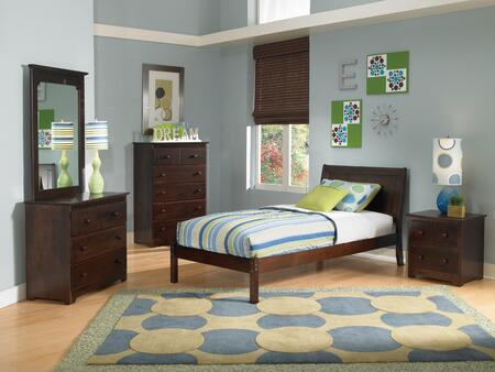 Atlantic Furniture PORTLANDOFFULLAW Portland Series  Twin Size Bed