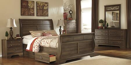 Milo Italia BR311QSLBDMN Krueger Queen Bedroom Sets