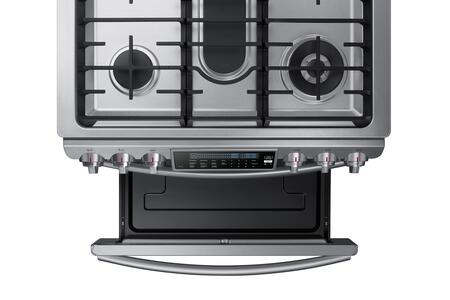 samsung nx58h9500ws 30 inch slidein gas range with sealed burner cooktop 58 cu ft primary oven capacity warming in stainless steel appliances