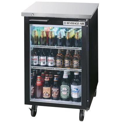 """Beverage-Air BB24 24"""" One [Solid] Door, [Food Rated] Back Bar Refrigerator,  7.8 cu. ft. Capacity, [Black] Exterior and Rear Mounted Compressor"""