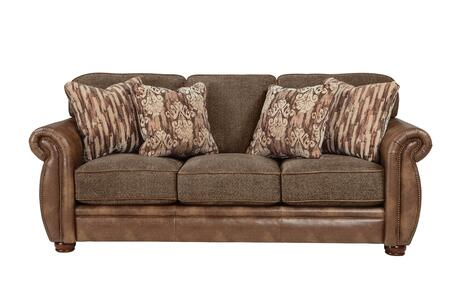 """Jackson Furniture Pennington Collection 4439-03- 90"""" Sofa with Chenille Fabric Upholstery, Bun Feet and Nail Head Accents in"""