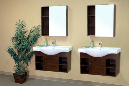 Bellaterra Home 203132 Vanity and Mirror Set