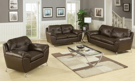 Yuan Tai RH3003BRSET3 Leather Living Room Set