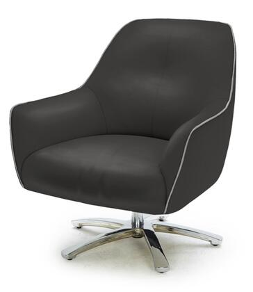 VIG Furniture VGKKA900BLKGRY  Lounge Chair