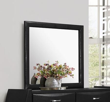 "Glory Furniture 35"" x 39"" Mirror with Rectangle Shape and Wood Construction in"