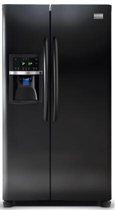 "Frigidaire Gallery FGHS2367K 33"" 22.6 cu. ft. Freestanding Side-by-Side Refrigerator With 3 Sliding SpillSafe Glass Shelves, Humidity-Controlled Drawers, External Ice/Water Dispenser and Quick Freeze/Ice:"