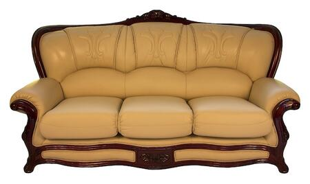 J. Horn 989IVORYS 989 Series Stationary Leather Sofa